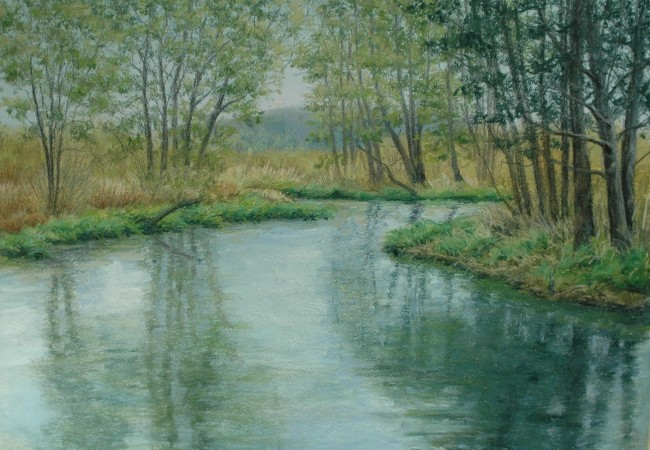 SPRING GREEN AT RIVER'S EDGE 11.5 x 15.5