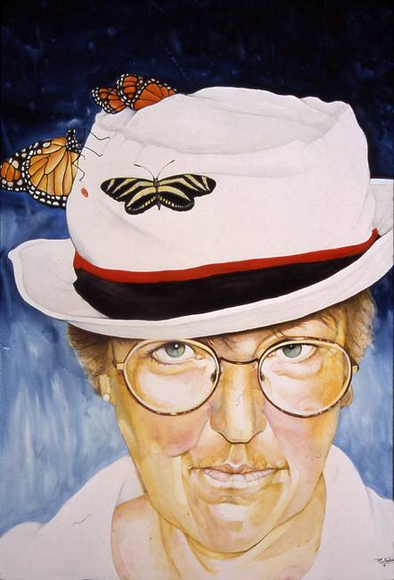 Self Portrait with Butterfly