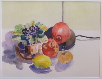 African Violet and Apples