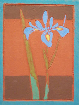 Blue Flag (Fired Ceramic Tile)