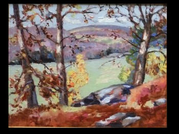 Rocky Ledge Autumn Landscape