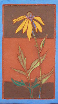 Green Headed Coneflower (Fired Ceramic Tile)