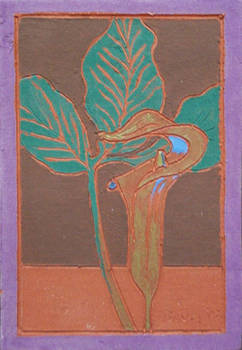 Jack-in-the-Pulpit (Fired Ceramic Tile)