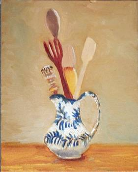 Pitcher in Mexican Kitchen