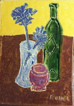 Second Still Life (Fired Ceramic Tile)