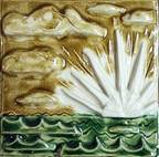 Second Sunset (Fired Ceramic Tile)