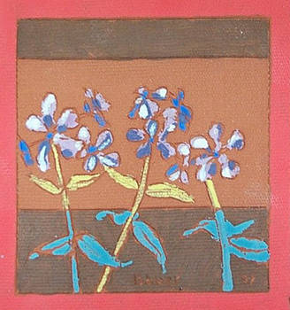 Smooth Phlox (Fired Ceramic Tile)