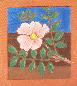 Wild Rose 1 (Fired Ceramic Tile)