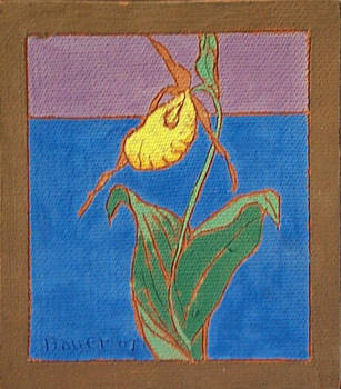 Lady's Slipper (Fired Ceramic Tile)