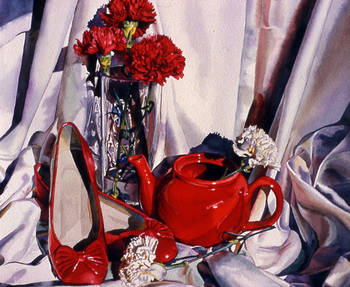 Still life in Red and White
