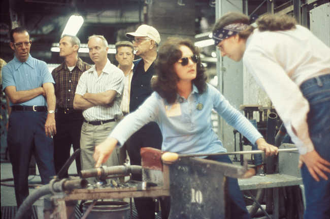 Audrey at Fenton Factory in Williamstown, West Virginia