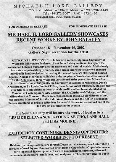 Lord Gallery Milwaukee Announcement
