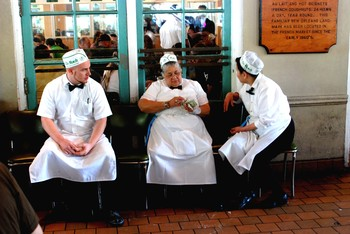 The Waiters at Cafe Du Monde - New Orleans