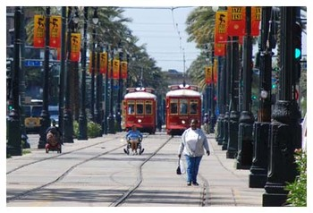 St. Charles Ave Streetcar - New Orleans
