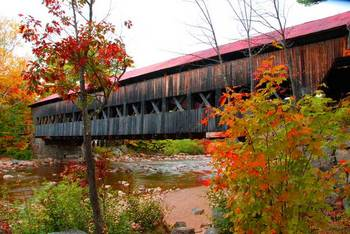 Covered bridge - Kancamagus Highway - N.H.