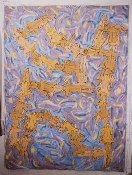 Easter Chain, Acrylic on polyester, 62x84