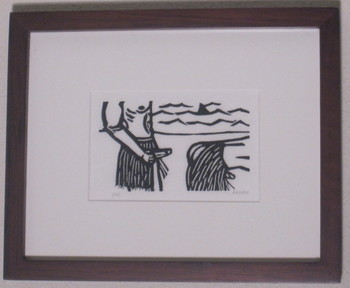 Half Moon Beach, Block Print