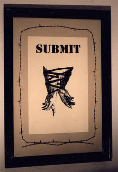 Submit, Screan Print, 22x30