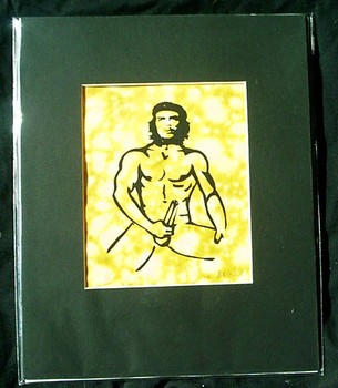 I love Che, 8x10 matted, screan print