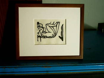 Sling Shot, Block Print, 8x10 Matted, Edition of 25