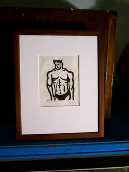 Black undergear, Block Print, 8x10 Matted, Edition of 25