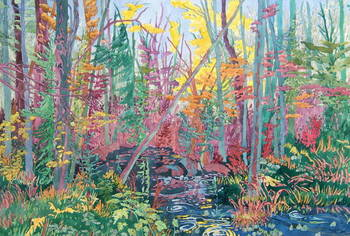 Pool in the Forest 30x40