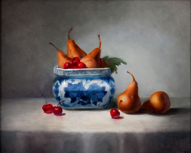 Pears in Porcelain