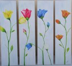 Garden Blooms on Canvas (4 panels)