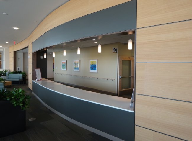 Mixed media pieces installed at UW Health at The American Center in Madison, Wisconsin. (latitude 2, mapping 2, location 2)