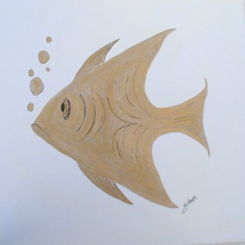 Fish - Designer Gouche on Canvas