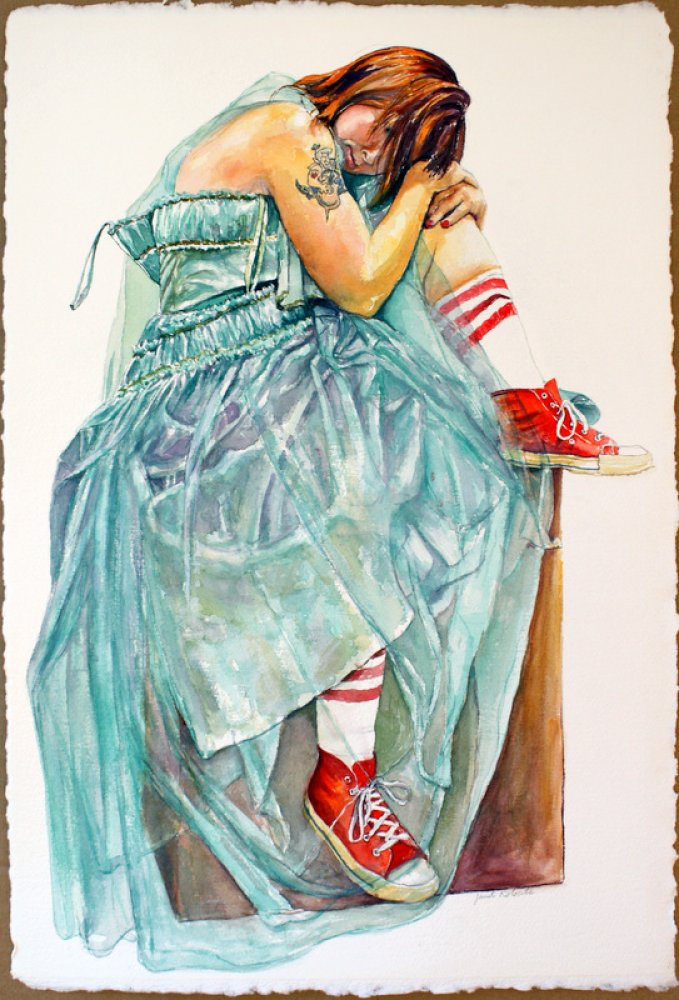 Rusted Angel in Red Shoes
