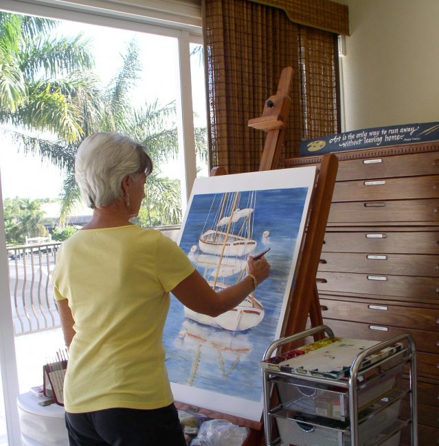 Shirley Hales Painting Studio