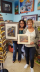 Yolanda and Kathy buying my Art at Carma & Coconuts, Cape Coral FL.