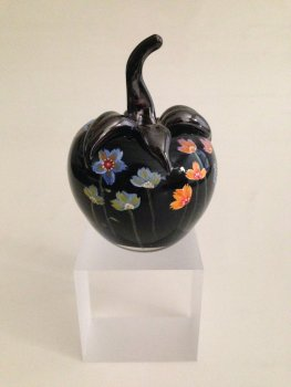 Painted Glass Apple