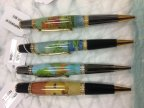 Pens turned by Brenda Hardman