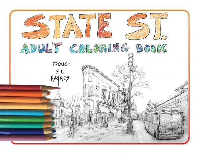 Cover: State St Adult Coloring Book