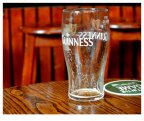 Empty Glass in Dublin Pub: