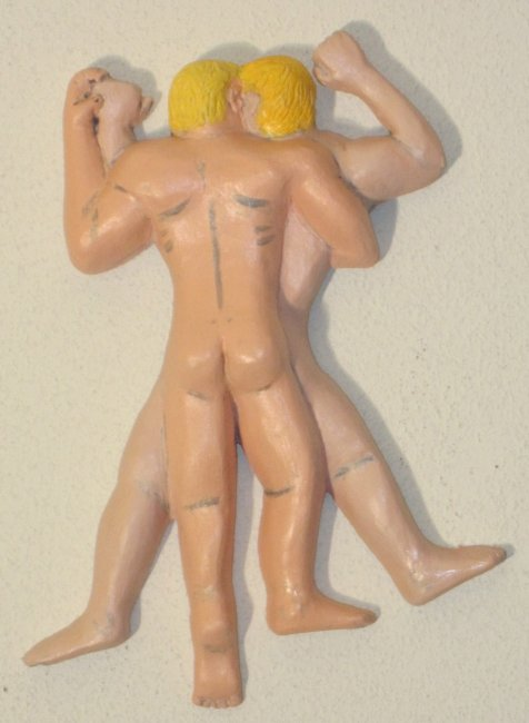 Blondes Couple Plaster Relief