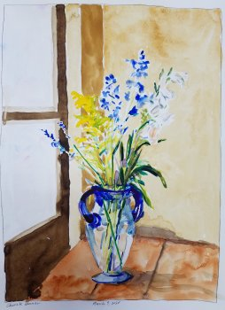 Delphinium, Goldenrod, and Tuberose