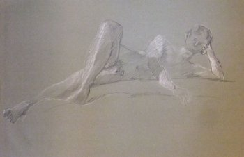 Young Male Reclining Lifedrawing