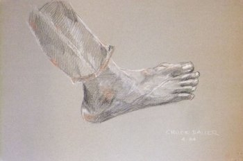 My Right Foot No. 2 Lifedrawing