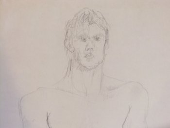 Male Nude (detail) Lifedrawing