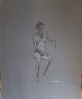 Seated Female Nude No. 1 Lifedrawing