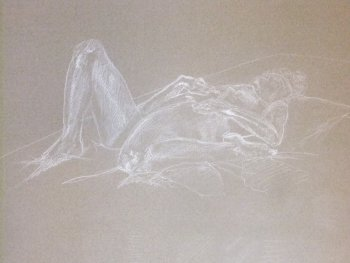 Reclining Female with Bent Leg Lifedrawing