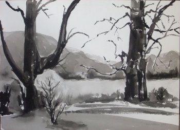 First Landscape in Ink and Wash