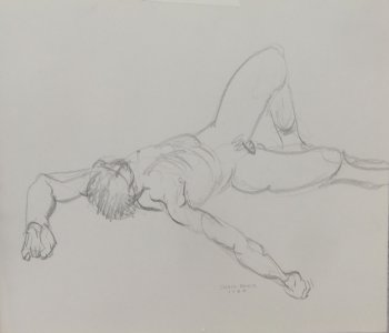 Reclining Male Nude Lifedrawing