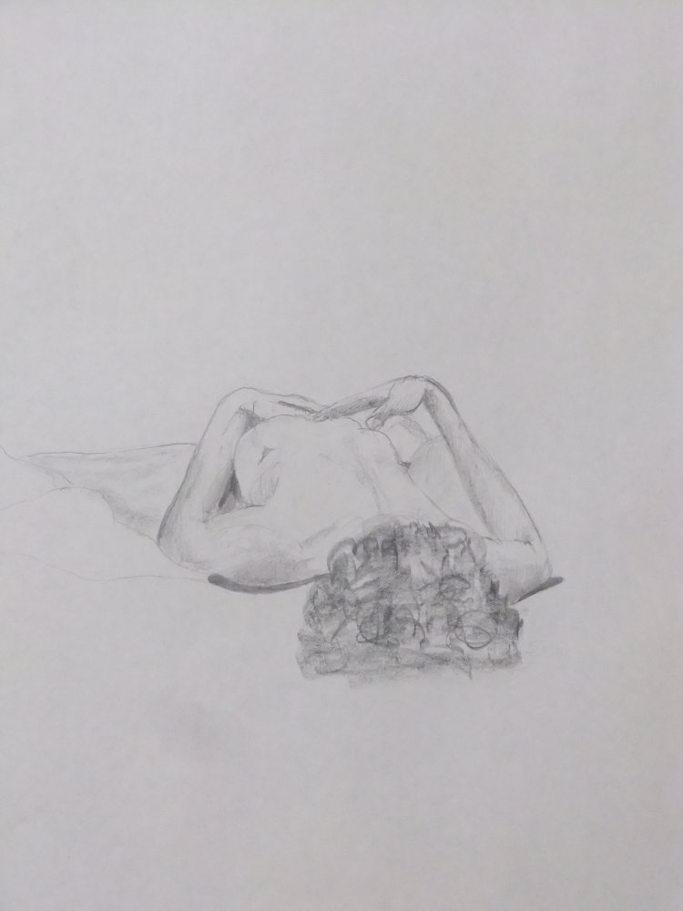 Reclining Female Lifedrawing