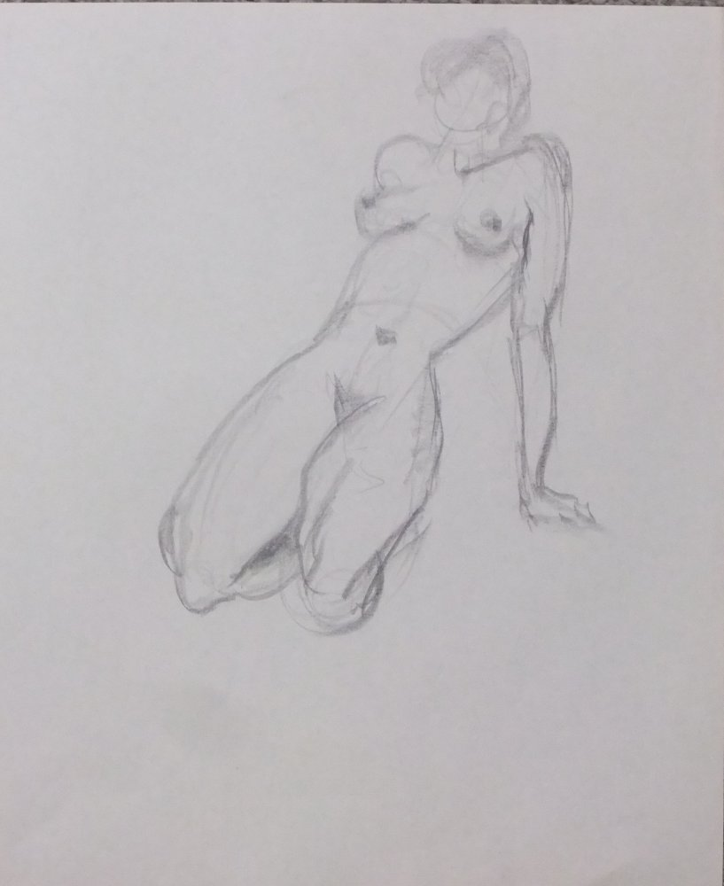Seated Female Nude Lifedrawing