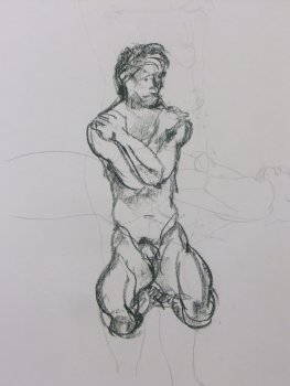 Seated Male Nude Lifedrawing