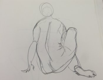 Seated Female Nude Gesture Lifedrawing